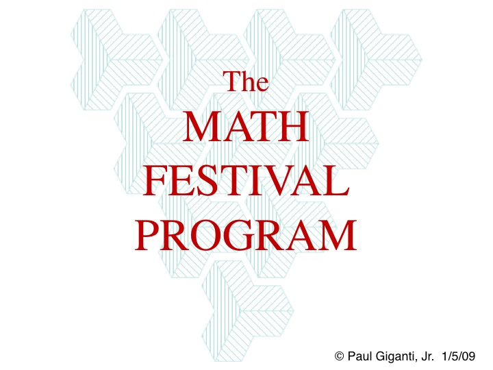 Math Festival Title